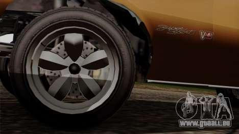 GTA 5 Declasse Vigero pour GTA San Andreas vue arrière