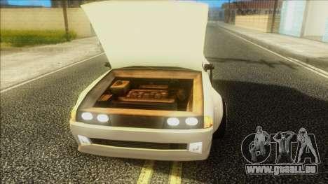 Elegy Rocket Bunny Edition für GTA San Andreas Rückansicht
