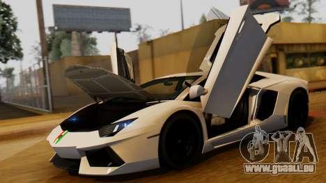 Lamborghini Aventador LP 700-4 2012 für GTA San Andreas rechten Ansicht