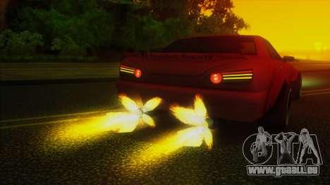 Elegy Rocket Bunny Edition für GTA San Andreas obere Ansicht