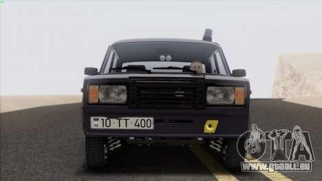VAZ 2107 Avtosh Style pour GTA San Andreas sur la vue arrière gauche