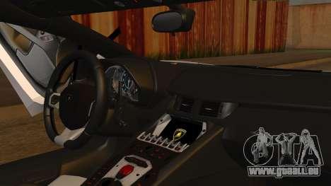 Lamborghini Aventador LP 700-4 2012 pour GTA San Andreas sur la vue arrière gauche