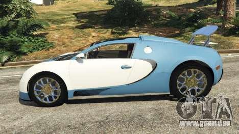 GTA 5 Bugatti Veyron Grand Sport v2.0 linke Seitenansicht
