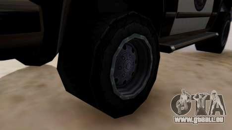 Police Ranger with Lightbars pour GTA San Andreas sur la vue arrière gauche