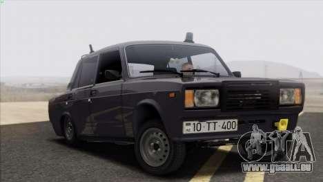 VAZ 2107 Avtosh Style pour GTA San Andreas laissé vue