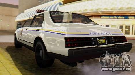 GTA 5 Albany Esperanto Police Roadcruiser pour GTA San Andreas laissé vue
