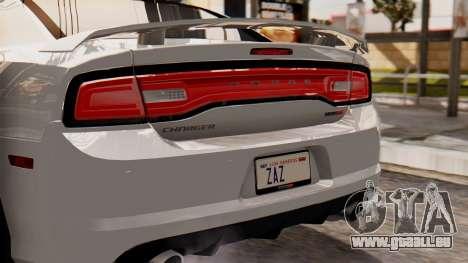 Dodge Charger SRT8 2012 LD für GTA San Andreas Rückansicht