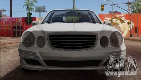 Mercedes-Benz E55 W211 AMG pour GTA San Andreas vue de dessus