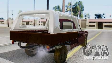 Peugeot 404 Camioneta pour GTA San Andreas laissé vue