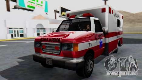 Ambulance with Lightbars pour GTA San Andreas