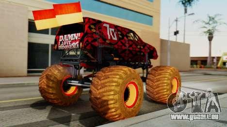 The Seventy Monster pour GTA San Andreas laissé vue