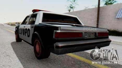 Police LV with Lightbars für GTA San Andreas linke Ansicht