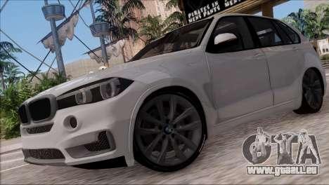BMW X5 F15 BUFG Edition für GTA San Andreas linke Ansicht