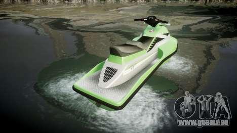 GTA V Speedophile Seashark pour GTA 4 Vue arrière de la gauche