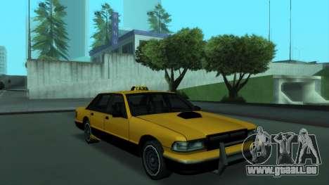 New Taxi pour GTA San Andreas sur la vue arrière gauche