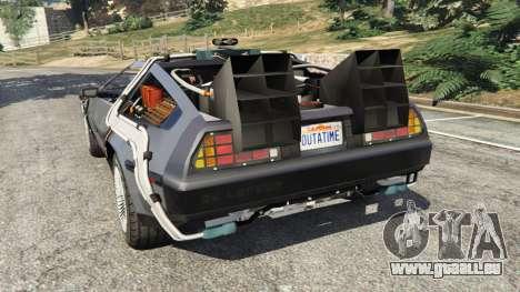 GTA 5 DeLorean DMC-12 Back To The Future v0.1 hinten links Seitenansicht