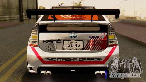 Toyota Prius JDM 2011 Itasha pour GTA San Andreas vue de dessus