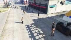 Réaliste de remplissage dans les rues et les rou