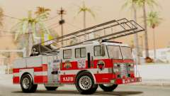 SAFD Fire Lader Truck Flat Shadow pour GTA San Andreas