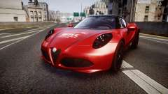 Alfa Romeo 4C 2014 WTCC Safety Car pour GTA 4