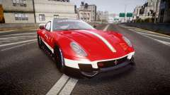 Ferrari 599XX 2010 Scuderia Ferrari pour GTA 4