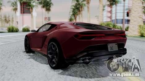 Lamborghini Asterion Concept 2015 v2 für GTA San Andreas linke Ansicht