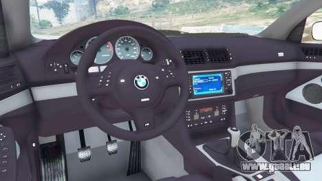 GTA 5 BMW M5 (E39) droite vue latérale