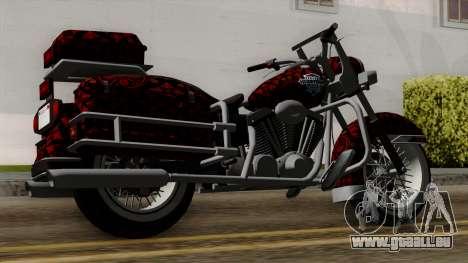 Classic Batik Motorcycle pour GTA San Andreas laissé vue