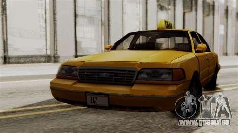 Ford Crown Victoria LP v2 Taxi pour GTA San Andreas laissé vue