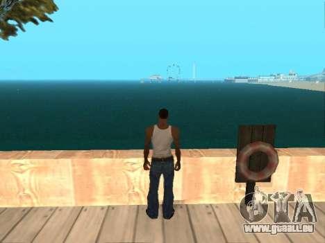 Vert foncé de l'eau réaliste pour GTA San Andreas quatrième écran