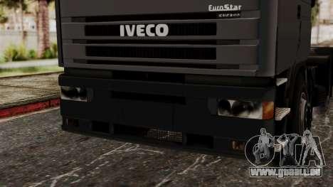 Iveco EuroStar Low Cab pour GTA San Andreas vue intérieure