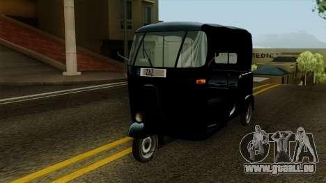 Indian Auto Rickshaw Tuk-Tuk für GTA San Andreas rechten Ansicht
