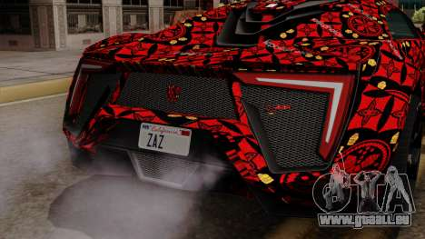 Lykan Hypersport Batik für GTA San Andreas Rückansicht