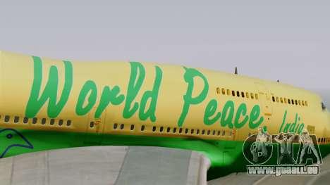 Boeing 747-400 World Peace pour GTA San Andreas vue arrière
