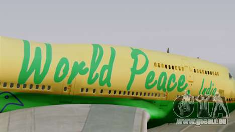 Boeing 747-400 World Peace für GTA San Andreas Rückansicht