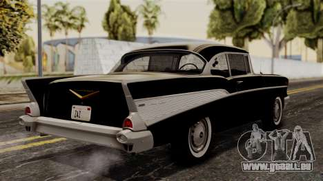 Chevrolet Bel Air Sport Coupe (2454) 1957 HQLM für GTA San Andreas linke Ansicht