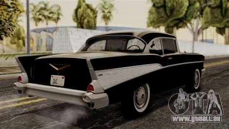 Chevrolet Bel Air Sport Coupe (2454) 1957 HQLM pour GTA San Andreas laissé vue