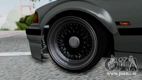 BMW M3 E36 Widebody v1.0 pour GTA San Andreas sur la vue arrière gauche