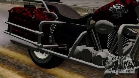 Classic Batik Motorcycle pour GTA San Andreas vue arrière