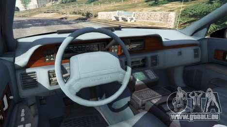 GTA 5 Chevrolet Caprice 1991 LSPD arrière droit vue de côté