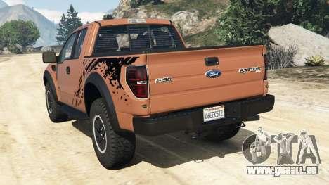 GTA 5 Ford F-150 SVT Raptor 2012 hinten links Seitenansicht