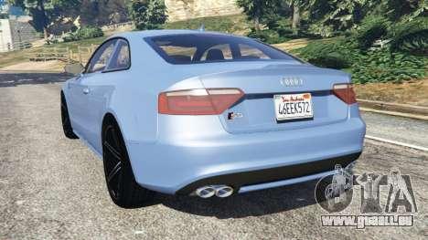 GTA 5 Audi S5 Coupe arrière vue latérale gauche