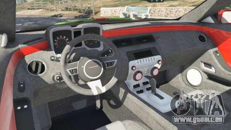 GTA 5 Roue Chevrolet Camaro SS 2010 [Beta]