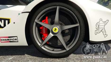GTA 5 Ferrari LaFerrari 2013 v2.0 arrière droit vue de côté