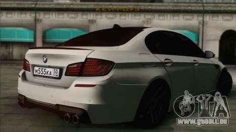 BMW M5 F10 Grey Demon für GTA San Andreas linke Ansicht