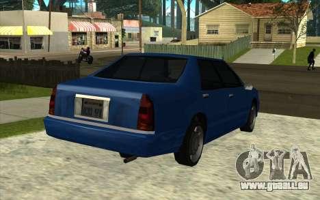 Toyota Crown Majesta dans le Style de GTA pour GTA San Andreas sur la vue arrière gauche
