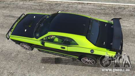 GTA 5 Dodge Challenger 2015 Shaker Furious 7 vue arrière