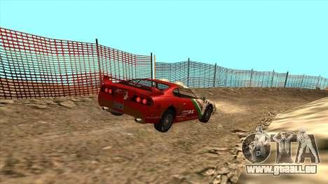 Rally Jester pour GTA San Andreas sur la vue arrière gauche