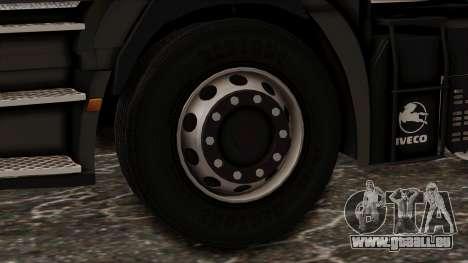 Iveco EuroStar Low Cab für GTA San Andreas zurück linke Ansicht