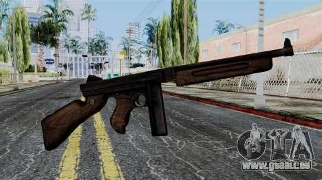 Thompson from Battlefield 1942 pour GTA San Andreas troisième écran